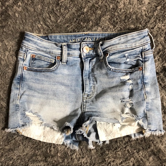 American Eagle Outfitters Pants - American Eagle Distressed Shorts 4